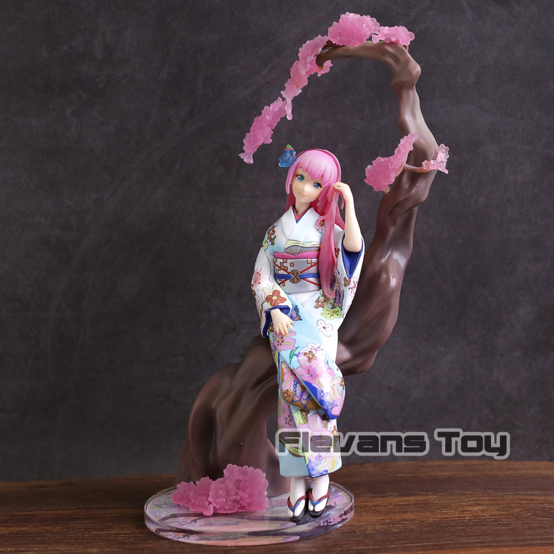 Vocaloid Megurine Luka Hanairogoromo Ver. 1/8 Scale PVC Figure Collectible Model Toy kisstyle fashion vocaloid megurine luka white army military uniform cos clothing cosplay costume customized accepted