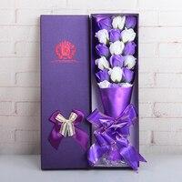 18ピース/箱石鹸バレンタインデーのギフトローズソープ人工花でボックス結婚式の装飾クリエイティブギフ