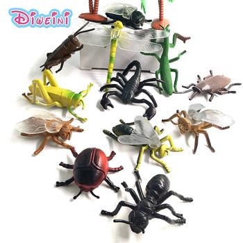 Imitacje zwierząt modele figurka ważka mrówka chrząszcz owad dekoracja wnętrz akcesoria zabawki dla dzieci prezent zabawki edukacyjne tanie i dobre opinie Wyroby gotowe for 3 years old and above Dorośli 12-15 lat 5-7 lat 3 lat 8-11 lat 8 cm DW-M-005 Zapas rzeczy Zwierzęta