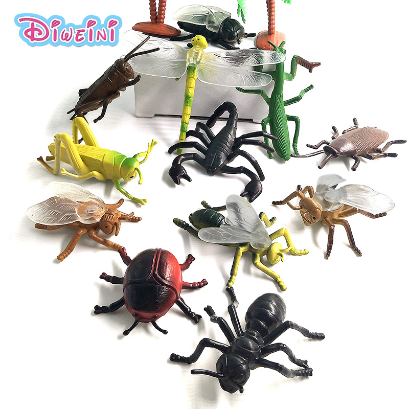 Simulation Animals models figurine Dragonfly Ant Beetle Insect home decoration accessorie Childrens Toys Gift educational toys