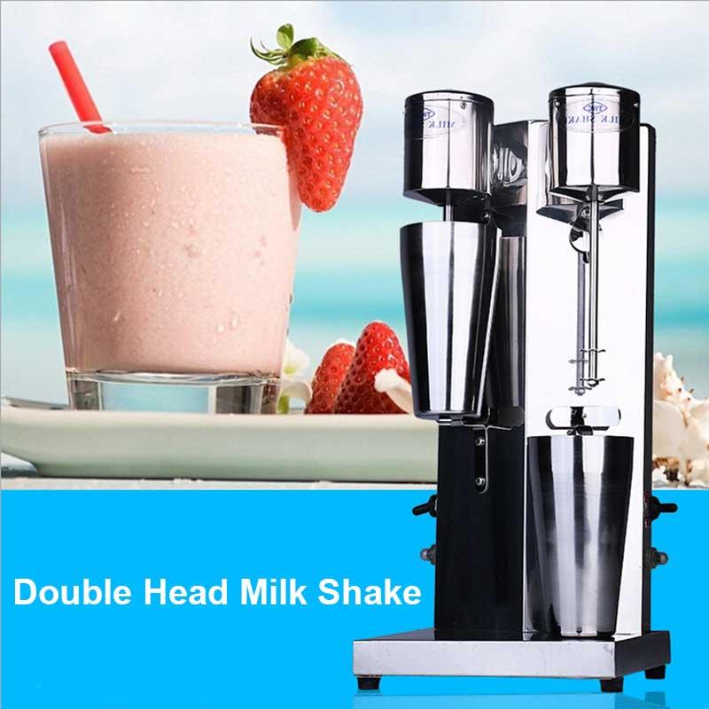 Image 4 - Xeoleo Milkshake machine Stainless Steel Milk Shake Machine Double Head Drink mixer Make Milks Foam/Milkshake Bubble Tea Machine-in Blenders from Home Appliances