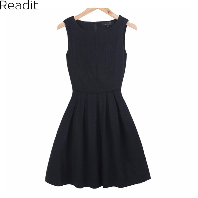 Women Summer Dresses Plus Size Pleated Skater Dress Praia Casual Women Clothing Vintage Black Red Knitted Dress Vestido D006