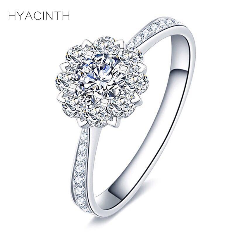 Кольца с алмазами для Для женщин модные аксессуары 2018 ювелирные изделия 18 К Fine Jewelry Кольцо с бриллиантом Для женщин s ювелирные изделия обруч