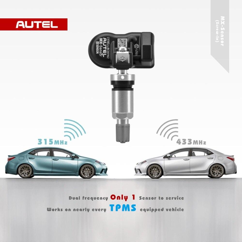 Image 2 - Autel TPMS MX Sensor 2 in 1 Sensor 433MHz 315MHz Programmer Universal TPMS Sensor Pressure Tester Programming MaxiTPMS TS601-in Pressure & Vacuum Testers from Automobiles & Motorcycles