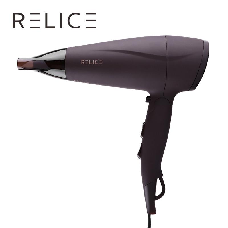 RELICE HD-302 Профессиональный фен для волос с подачей горячего и холодного воздуха, мощность 2200Вт, насадка и складная ручка, портативный фен для ...