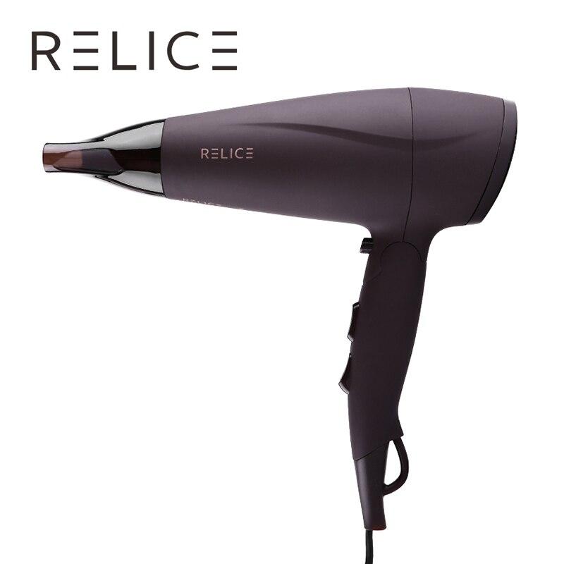 RELICE HD-302 profesional secador de pelo de 2200 W de potencia caliente aire frío con boquilla mango plegable hogar portátil de secadores de pelo