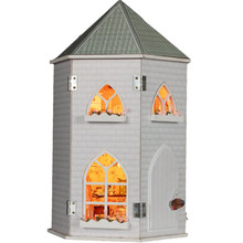 Wooden House Love Castle DIY Dollhouse Miniature With Light Furniture Kits Best Christmas Birthday Gift Toy For Children Friends