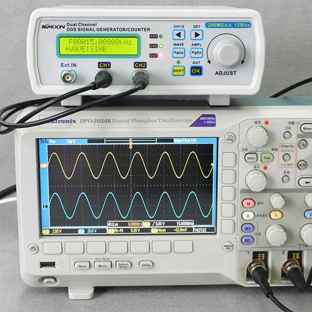 200MSa/s 25MHz signal generator Digital DDS function generator sine wave frequency generator Arbitrary Waveform Frequency Meter