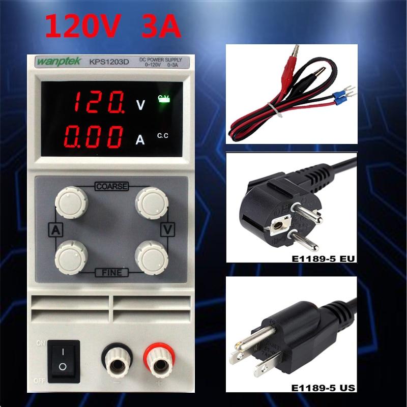Mini laboratory DC power supply 120V 3A Single phase Digital voltage regulator adjustable switch DC Power Supply fast arrival qj12003e dc adjustable regulator laboratory power supply 0 120v 0 3a transformer resolution of 100mv 1ma