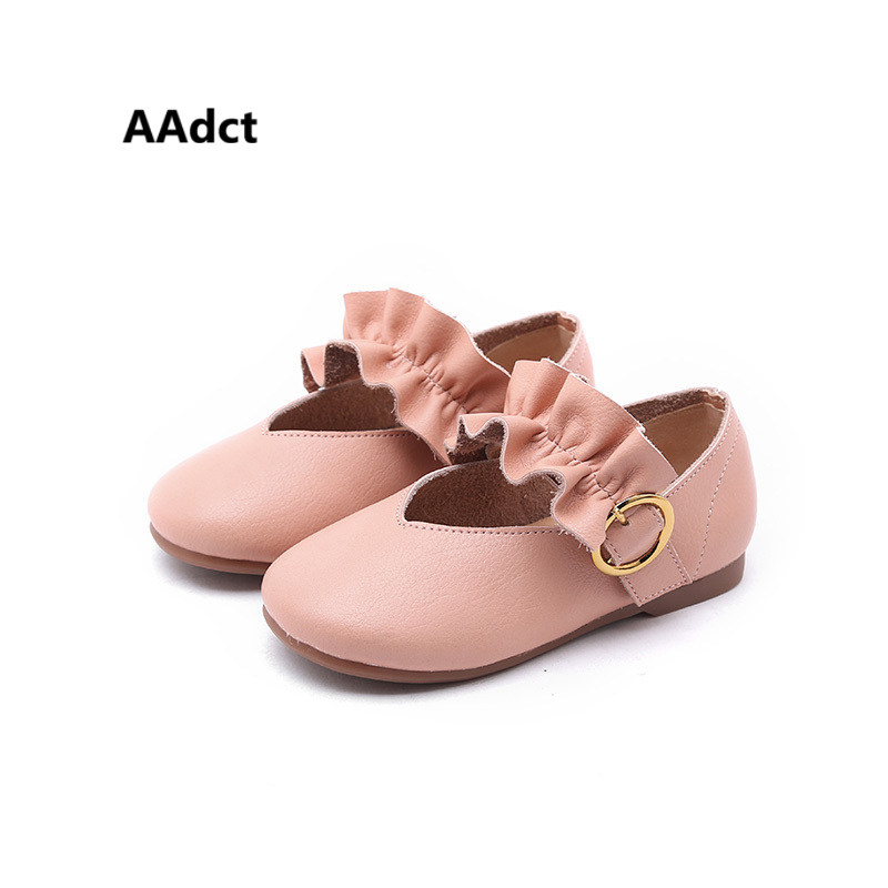 AAdct New Fashionable Wavy Girls shoes Comfortable Buckle princess Children shoes High q ...