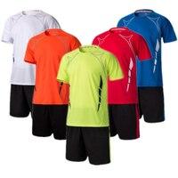 Quick Dry Men Soccer Training Suits Survetement Football Boys Blank Soccer Jerseys Set Team Soccer Uniform