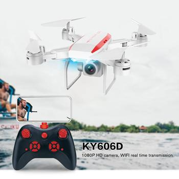 Professional KY606D RC Foldable Drone Aircraft Long Fly Time FPV Helicopter With 1080P HD Wifi Camera and 3 Battery