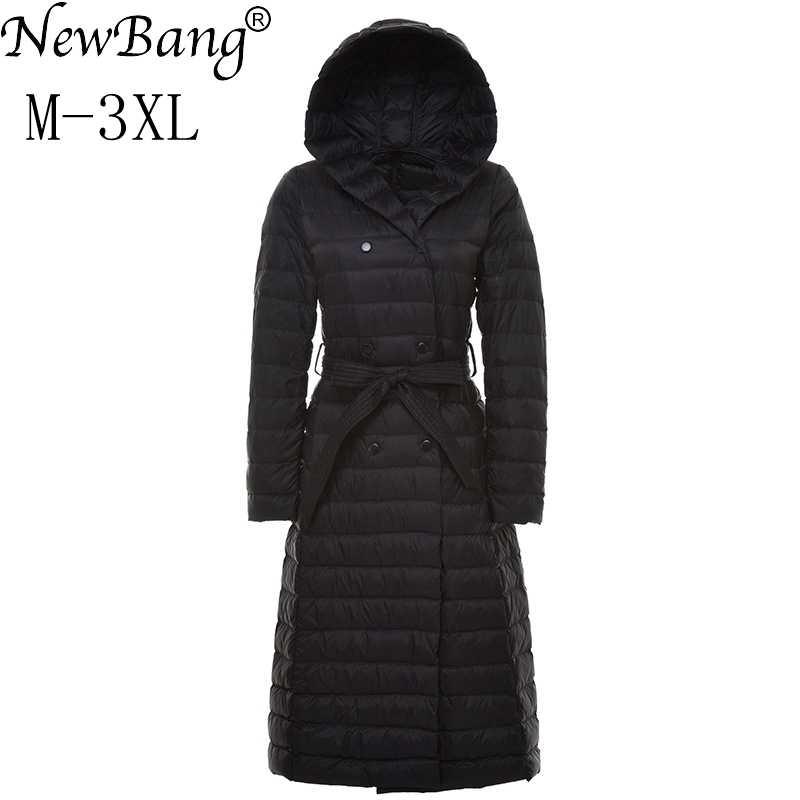 8674b020573 NewBang Brand Ladies Long Winter Warm Down Coat Women Ultra Light Down  Jacket Women Women s With