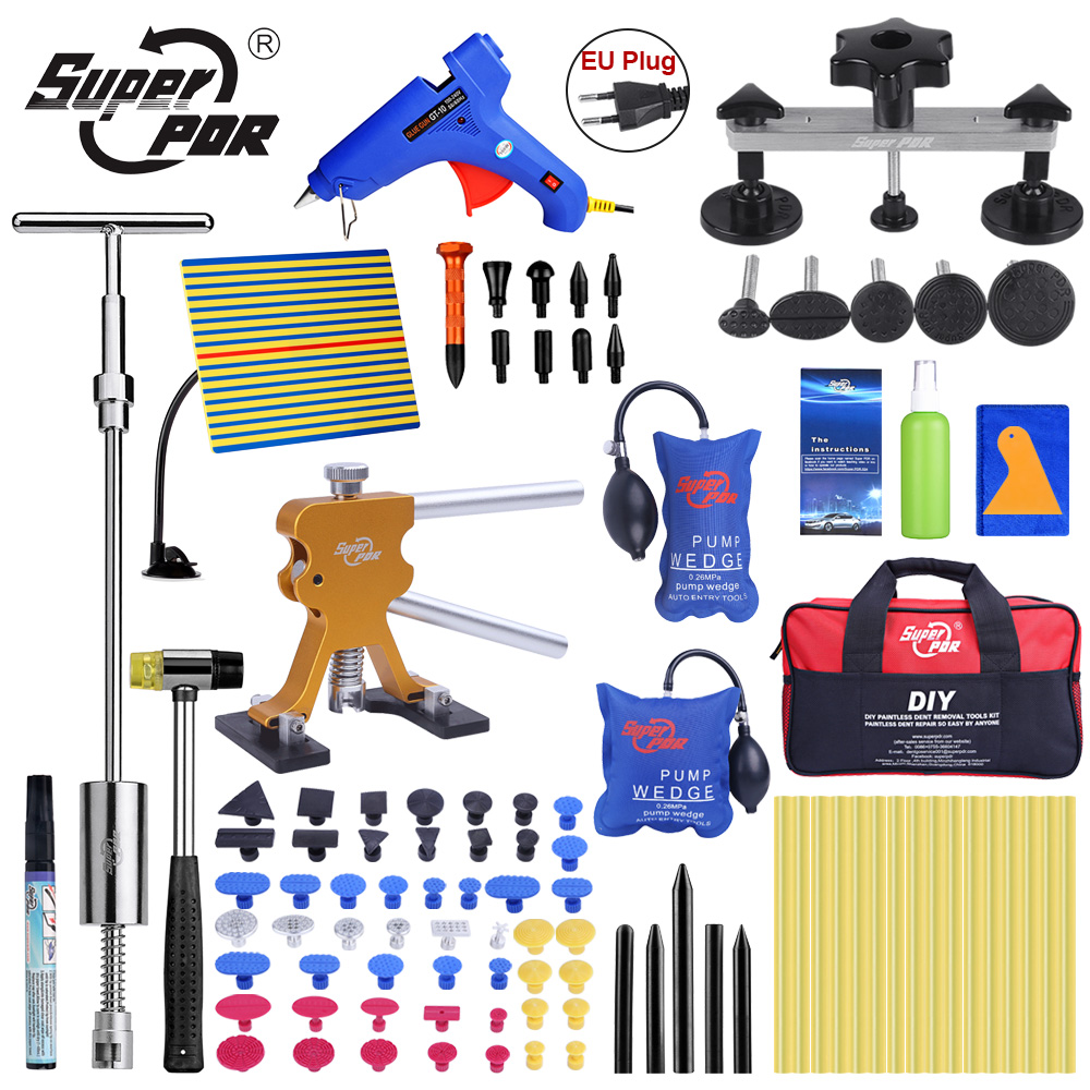 Super PDR Tool Set Car Dent Silver Bridge Paintless Dent Repair Kit Pullers PDR Tools Dent Removal Tools Dent Remover For Cars