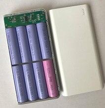 Caso PCB 8 seção 18650 Baterias de carregamento 20000 mah polímero de energia móvel de nidificação kit para Romoss Banco De Potência DIY