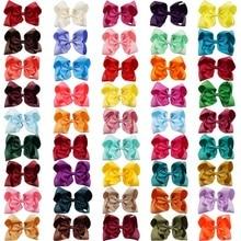 60 色 8 大柄髪の弓組み合わせ卸売ヘアクリップ各色の一枚で袋の毛アクセサリー