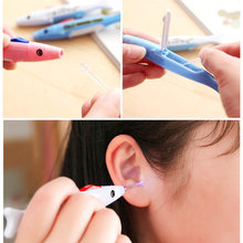 1pcs Luminous Baby Child Ear Cleaning Safe Flash Lighting Ear Pick Spoon Creative Ear Cleaning Tool Earwax Digging(China)