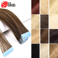 Tape In Synthetic Hair Extensions 22Inch Machine Made Synthetic Hair On Adhesives Tape PU Skin Weft Invisible 40pcs/pack