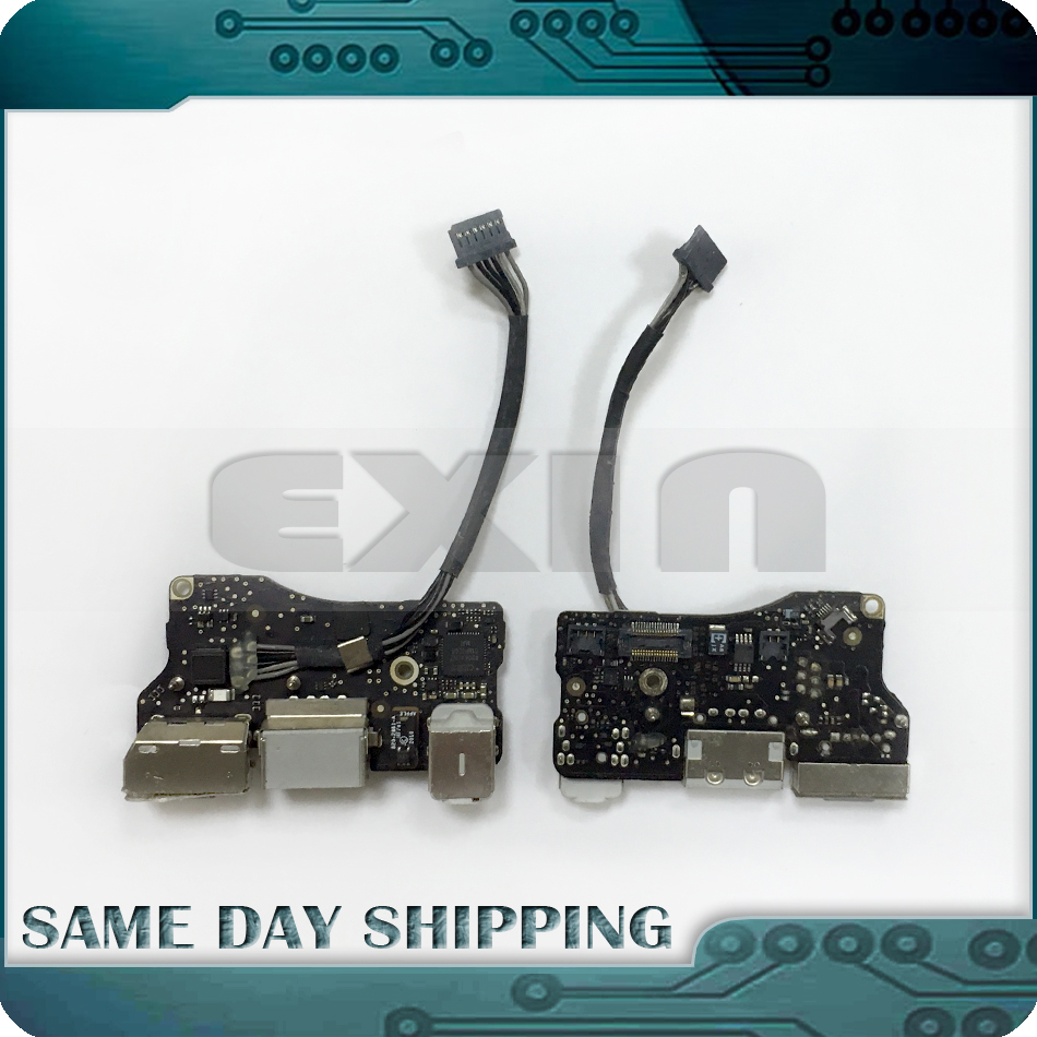 D'origine USB DC I/O Jack Audio Power Board 820-2861-UN pour Apple MacBook Air 13 A1369 Fin 2010 MC503 MC504 EMC 2392