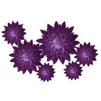 HAOCHU 6pcs/lot 40cm DIY Paper Flowers Backdrop Deep Purple Artificial Flower Wedding Decoration Birthday Event Party Supplies
