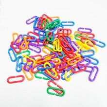 100 шт. попугай C-Соска-игрушка птица пластик C-закрепление звеньев африканский серый Conure гнездо для попугая крюк звено цепи игрушка