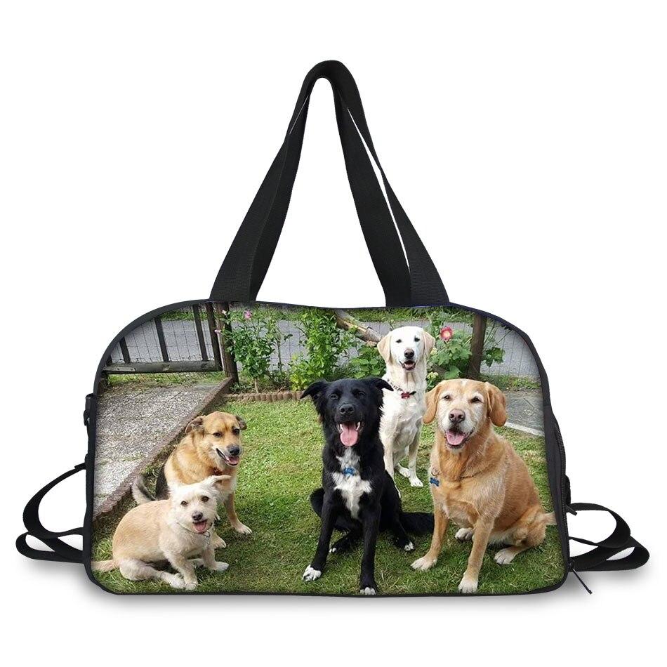 все цены на Customized Travel Luggage Duffle Tote Large Capacity Femme Canvas Travel Handbag Cute Pet Dogs Print Women Travel Bag Kawaii