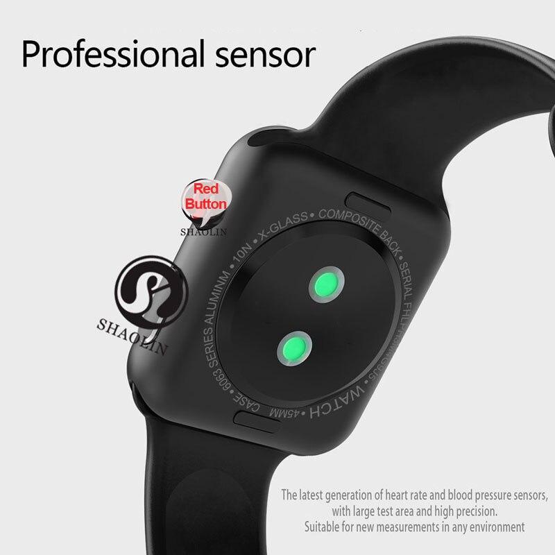 Reloj inteligente Bluetooth serie 4 SmartWatch para Apple iOS iPhone Xiaomi HUAWEIAndroid teléfono inteligente no reloj de Apple (botón rojo) - 6