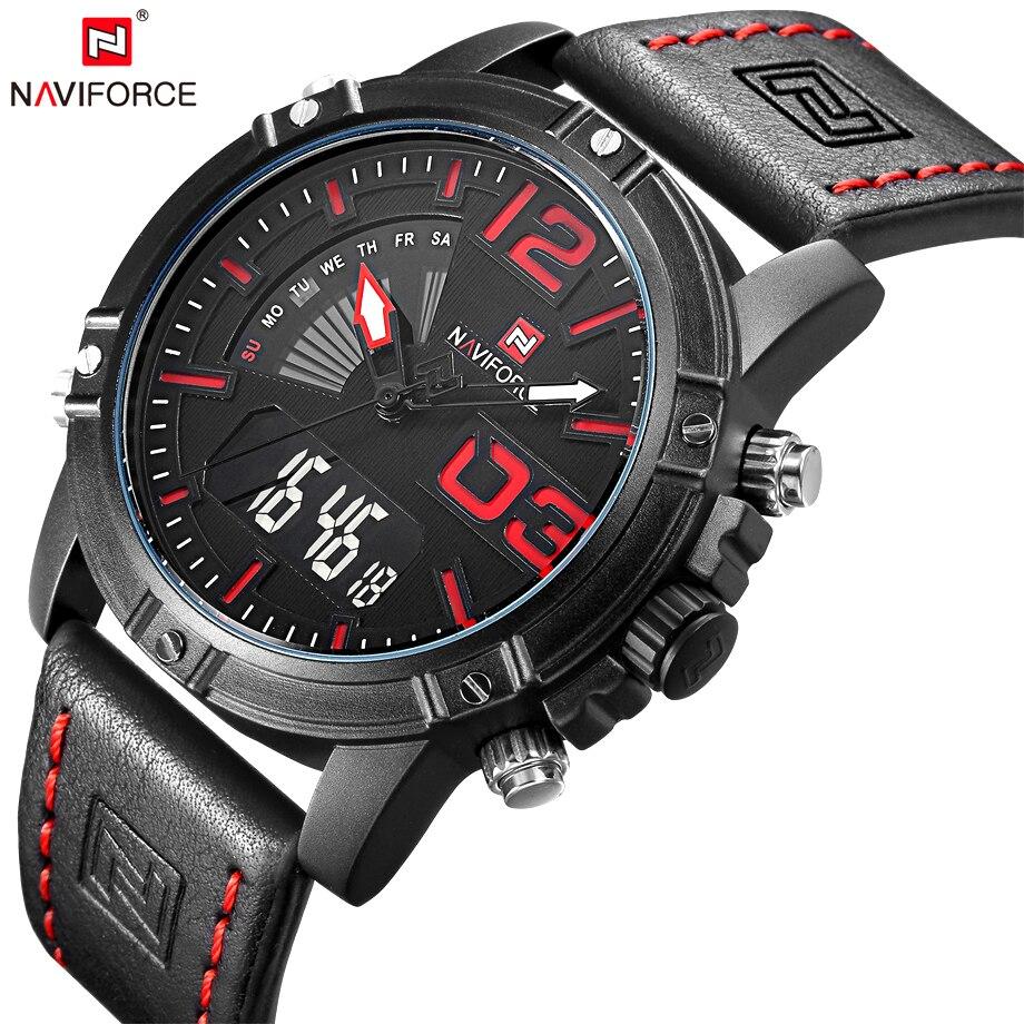 NAVIFORCE Watches Men Fashion Casual Back Light Watches Quartz Wristwatches Army Military Clock Waterproof Relogio Masculino