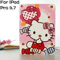 "New Arrival Hello Kitty Stand Smart PU Leather Cover Case for Apple iPad Pro 9.7"" Tablet TUP Silicone Case+Free Screen Protector"