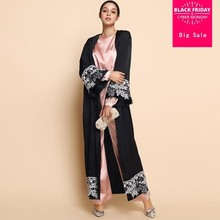2018 adult Muslim Arabian rayon cardigan fashion dubai islamic printed  flower large size dress wj748 prayer service clothing 1dd0bdab2185