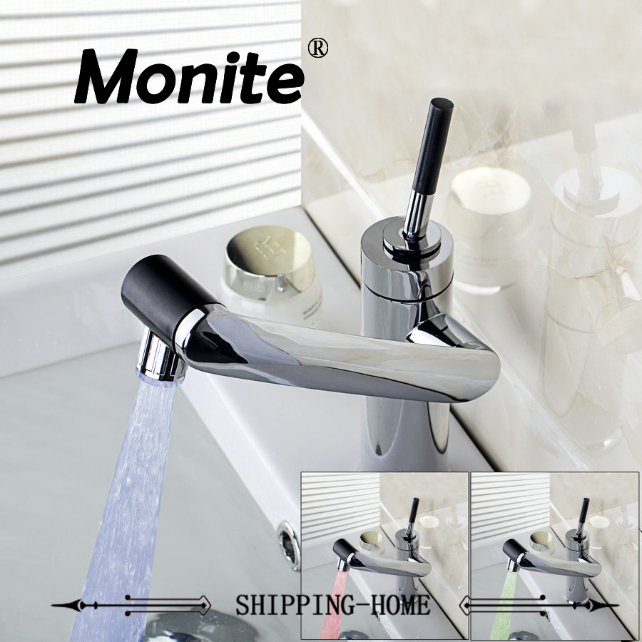 LED rotate faucet water Bathroom Faucet Kitchen Swivel Faucet Hot And Cold Mixer Taps basin Sink
