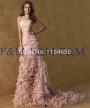 2016 Sexy Lady New Fashion Classic Trägerlosen Rüschen Rosa Sleeveless Lange Hochwertigen Bodenlangen Pageant Abendkleider