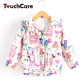 Cute Cartoon Animal Graffiti Parkas Baby Girls Coat Winter Warm Thick Soft Kids Jacket Plush Cotton Down Chindren Outerwear