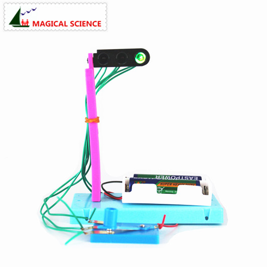 Wholesale Fun Physics Experiment Traffic Lights DIY Materials,home School Educational Kit,best Gift For Your Kids