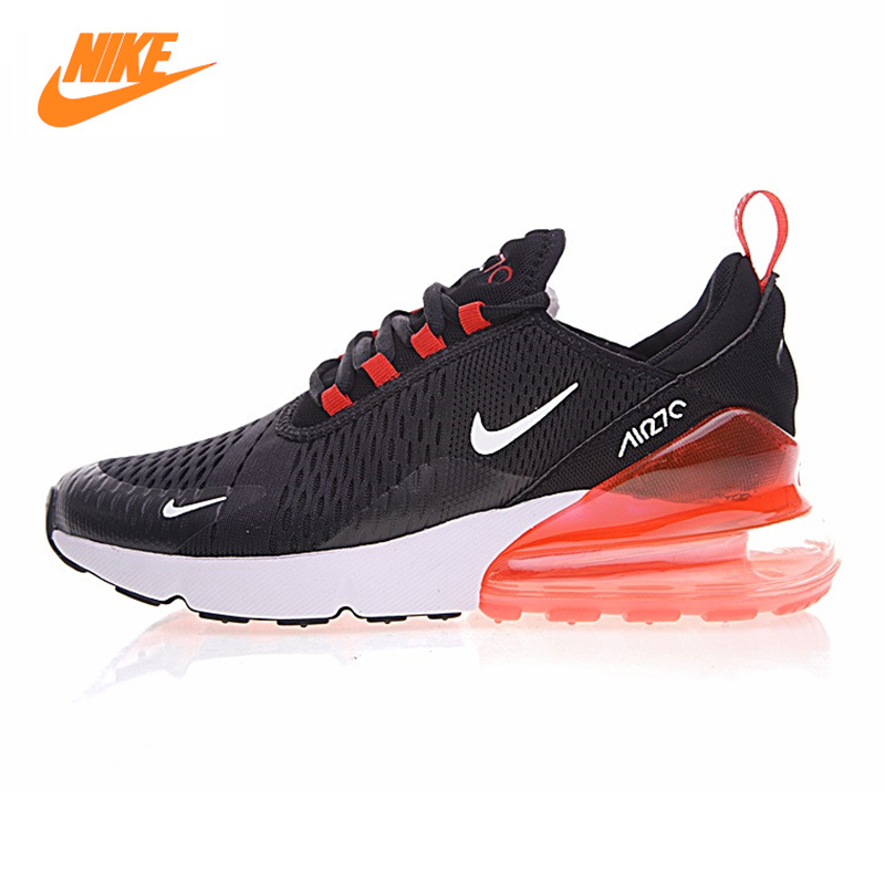 Nike Air Max 270 Men's Running Shoes, Black & Red, Shock Absorption Non-Slip Wear-resistant Breathable Lightweight AH8050 006 цена