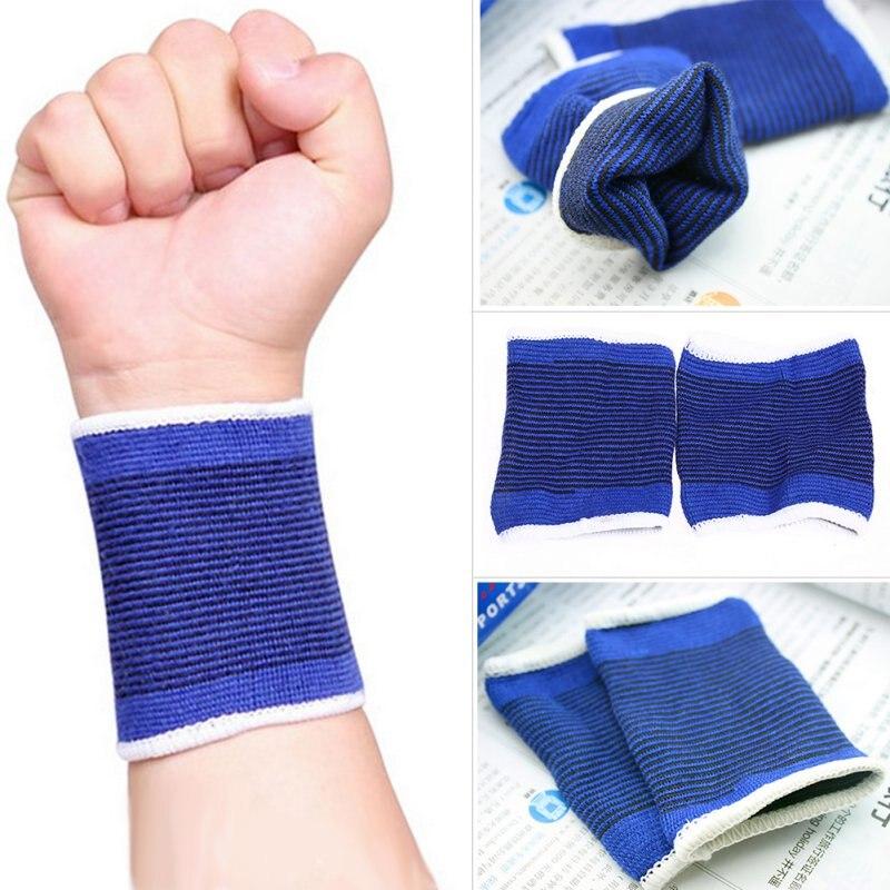 2 X Elastic Wrist Support Bracer Protection Compression Belt