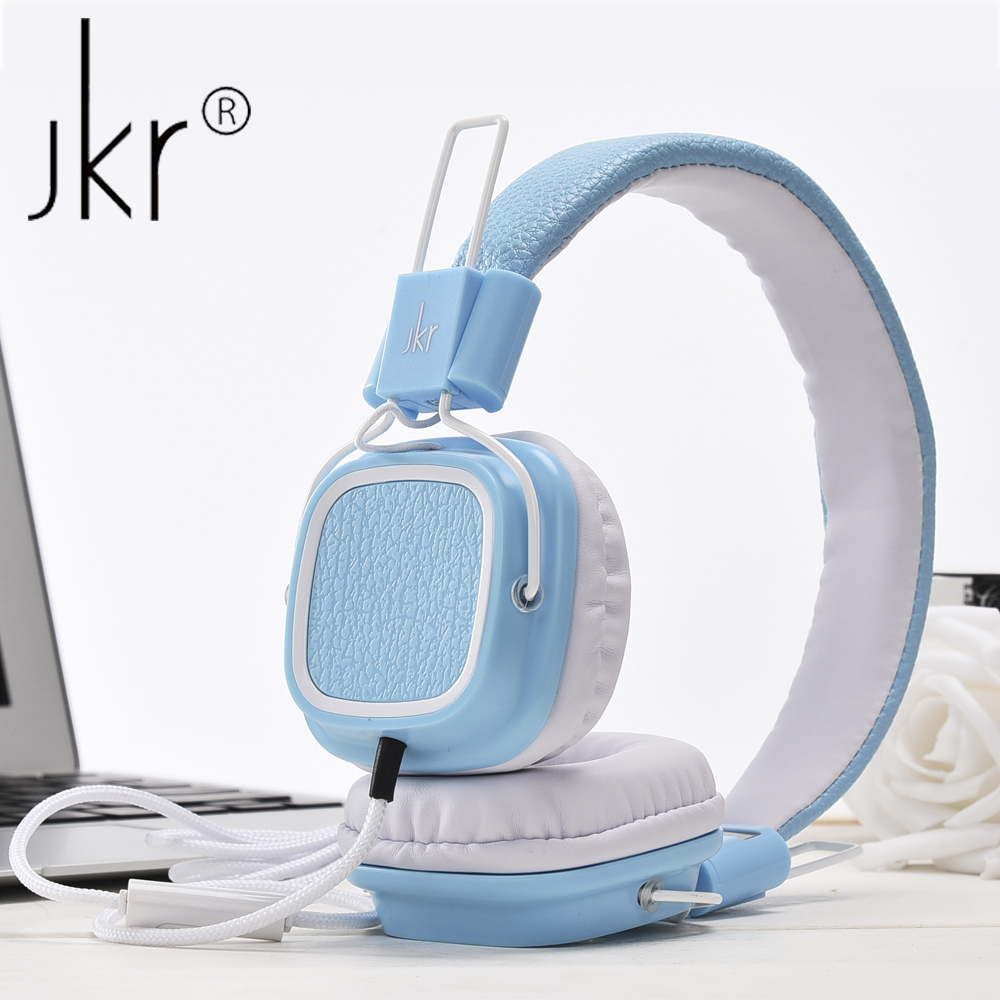 JKR-112 Portable Heaphones Wired Common Headphone with Mic Volume Control Headsets For mp3 Music Player Gaming Computer Earphone