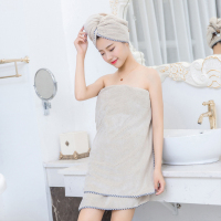 Coral Velvet Bath Tower Sets Soft Magic Absorbent Dry Spa Hair Towel Beach Towel Dress Bathrobe