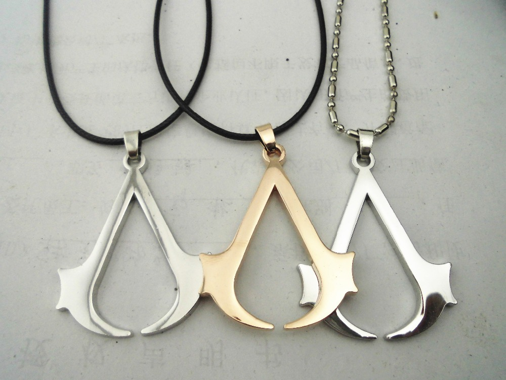 2015 Game Jewelry Assassins Creed Symbol Sign Zelda Pendant Rope