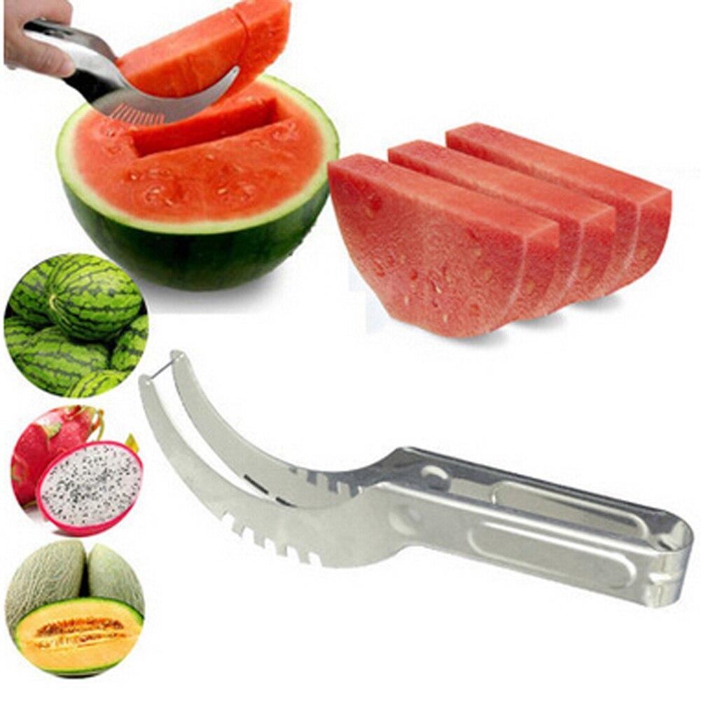 Free Shipping Stainless Steel Melon Slicer Cutter Corer Server Splitter Watermelon Cantaloupe