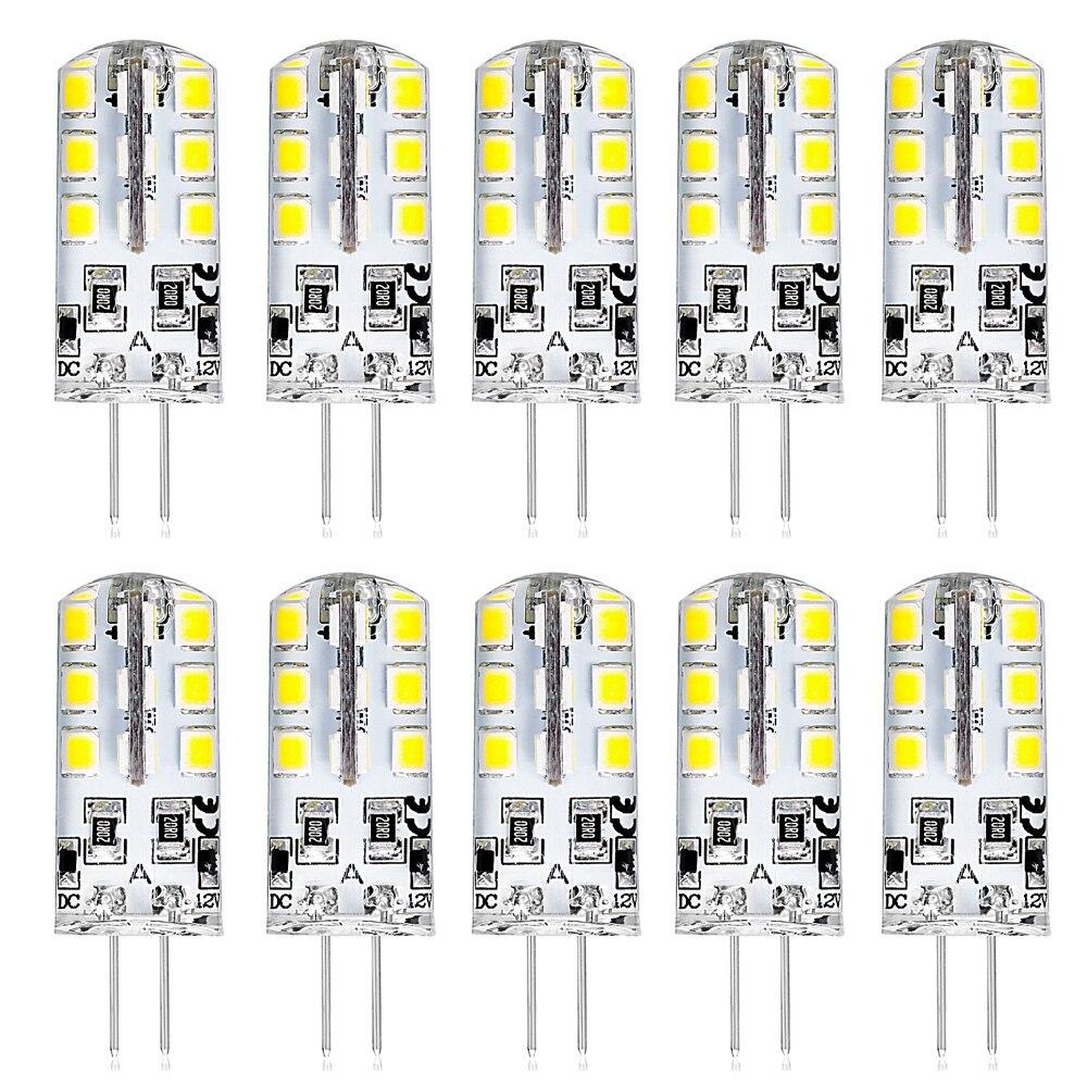 New 10pcs/Lot G4 Base 24 LED Bulb Lamp High Power SMD2835 DC 12V Bulb White/Warm White Light 360 Degrees Beam Angle Spotlight