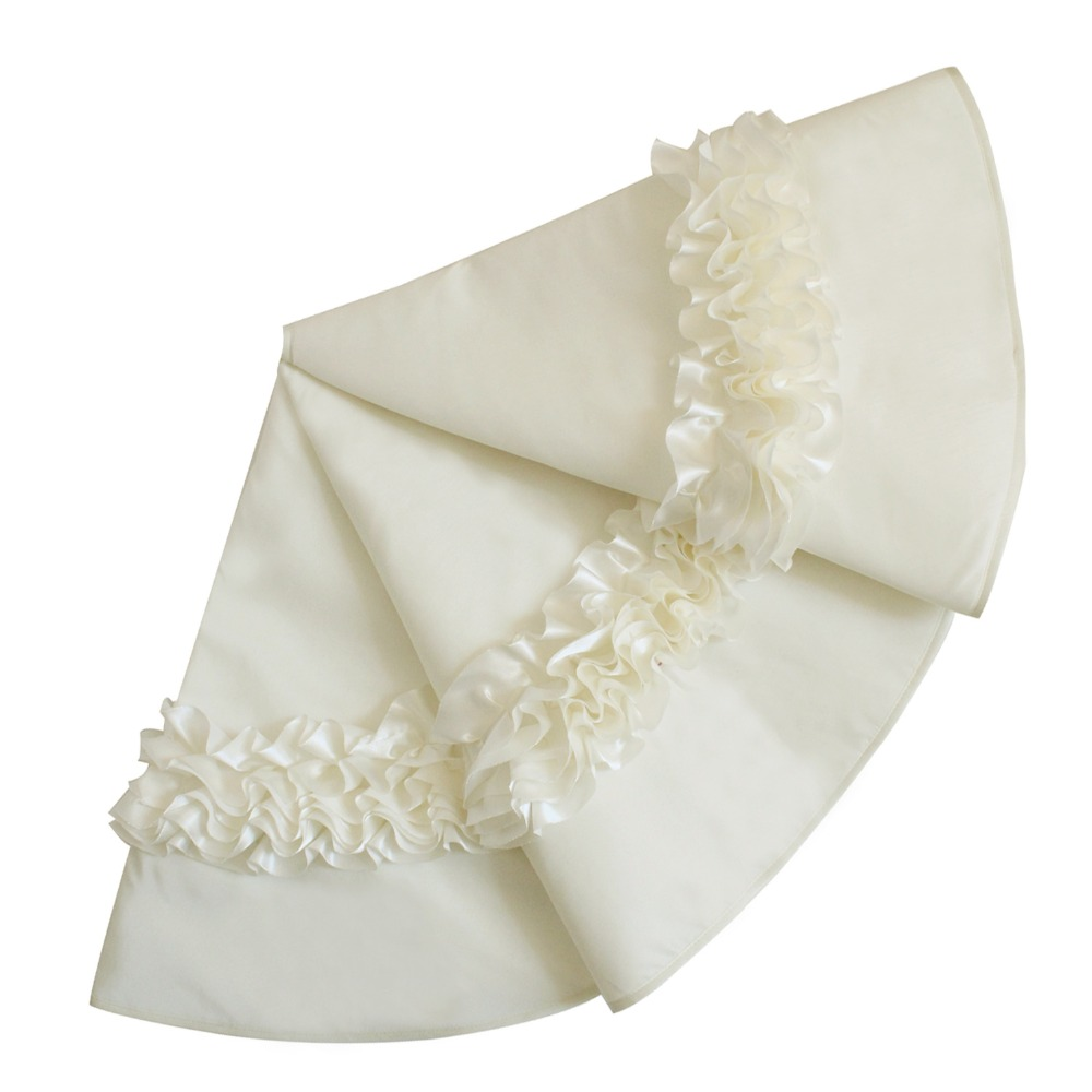 Silk christmas ornaments - Ivory Christmas Ornaments
