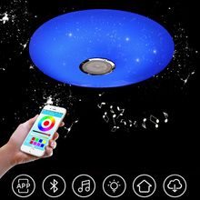 Smart Bluetooth Ceiling Light LED Modern Simple Ultra-thin APP+Remote Music Light Children's Room Living Room Bedroom Light