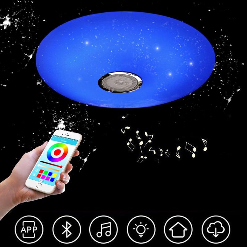 inteligente bluetooth luz de teto led moderno simples ultra fino app remoto musica luz sala de