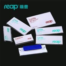 10 cái/1 Lot Gặt Hái acrylic lucite từ name tag hiệu chủ châm phù hiệu Card ID Holders làm việc nhân viên thẻ