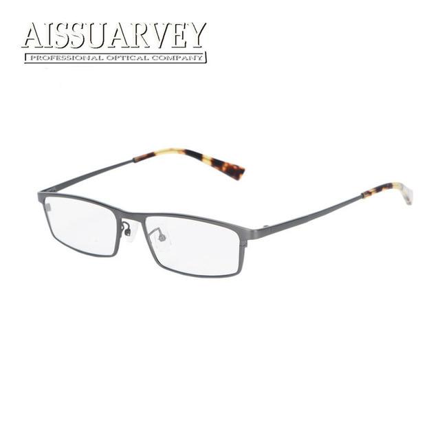 Titanium armações de óculos para homens óculos ópticos prescrição lentes claras óculos de marca designer de moda negócio quadrado novo