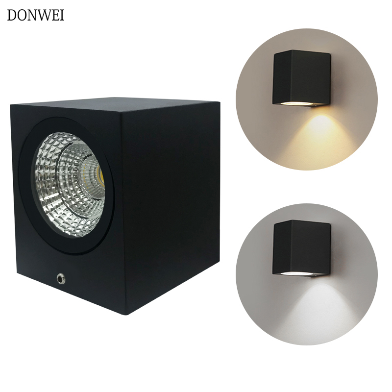 5w/10w Led Aluminum Wall Lamp Porch Light Wall Sconce Square Up And Down Outdoor Waterproof Ip65 Wall Light Garden Lights Diversified In Packaging Lights & Lighting Led Outdoor Wall Lamps