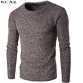 High Quality Autumn Winter Sweater Men Pullover O-Neck Solid Color Knitting Weaving Slim Fit Fashion Casual Sweater Size M-XXL