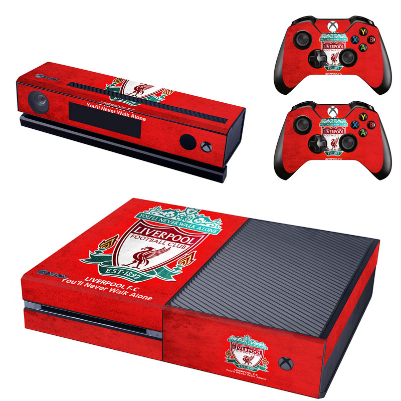 Europe Football Club Skin Sticker Decal For Microsoft Xbox One Console and Kinect and 2 Controllers Stickers Accessory