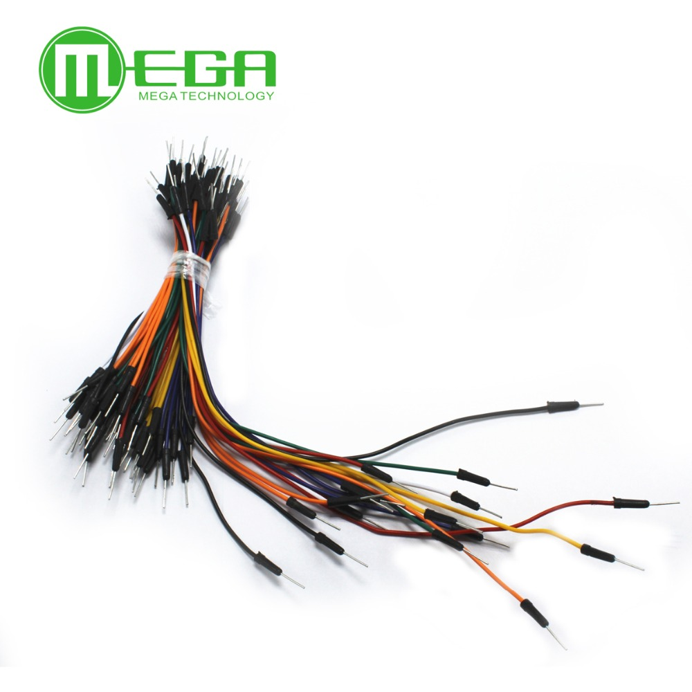 65pcs=1set Jump Wire Cable Male to Male Jumper Wire for A rduino Breadboard 65 jump wires for DIY KIT